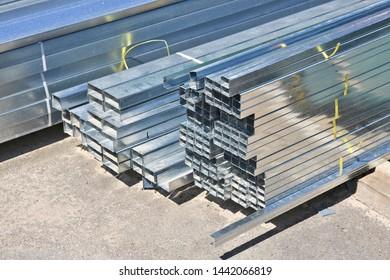 Pile of tin building profile