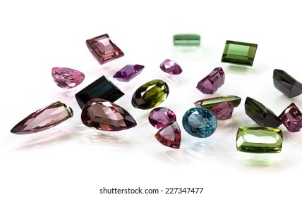 Pile of Tourmaline in various color
