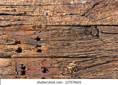 Pile of track sleeper wooden stack background
