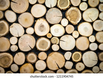 Pile of tree stumps, woods structure