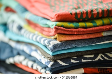 A pile of T-shirts