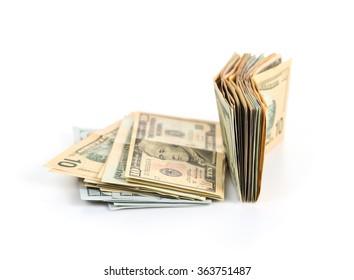 pile of US dollar bills
