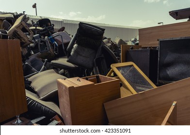 a pile of used furniture