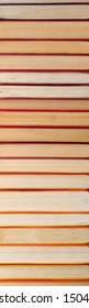 Pile of vintage paper orange books in hard cover. Fall reading list