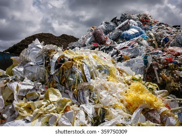 Pile of waste for recycling or safe disposal, Great for recycle and environmental themes.