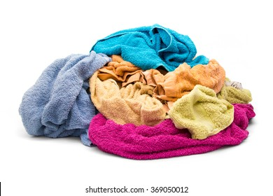 Pile of wet dirty clothes - towels
