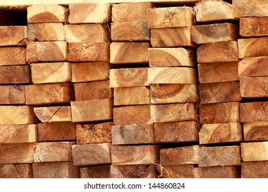Pile of wood construction