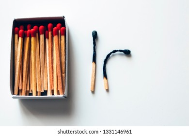 Pile of wooden matches as background