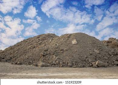 Piles of Dirt  on a building site