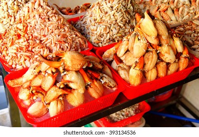 Piles of fresh crab claw meat,Ben Thanh market, Saigon (Ho Chi Minh City),  Vietnam