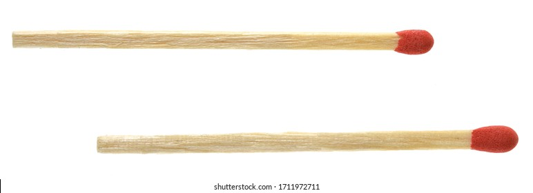 Piles of matchstick isolated on white