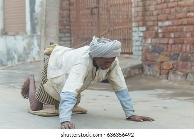 Pilgrim  parikrama.India, Govardhan, November 2016
