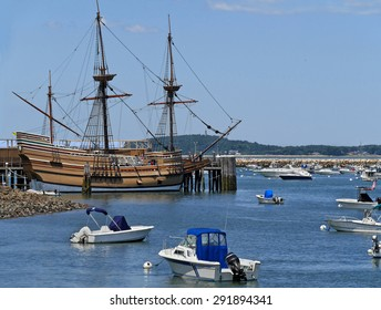 Pilgrim ship Mayflower at Plymouth, Massachusetts