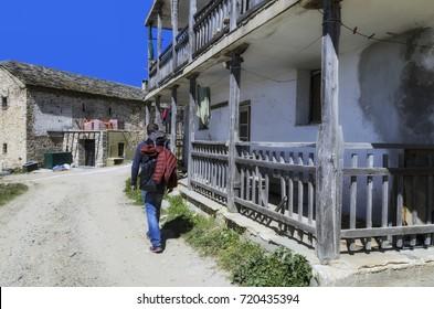 Pilgrim visits the monastery Xenophon