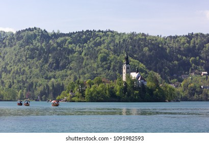 Pilgrimage Church of the Assumption of Mary on Bled Island, Slovenia