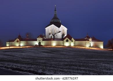 Pilgrimage church of Saint John of Nepomuk, Zdar nad Sazavou, Czech republic, 28th November 2015