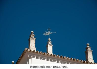 Pilgrimage town of El Rocio with roofs