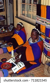PILGRIM'S REST, SOUTH AFRICAN REPUBLIC - MAY 13: Ndebele women on 13 May 2002 at Pilgrim's Rest. Ndebele is a local tribe in Mpumalanga.
