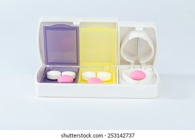 Pill Box Split Blade Tablet Show Stock Photo (Edit Now
