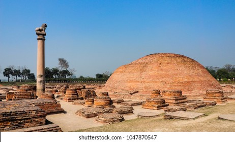 The Pillar of Ashoka at Vaishali, India
