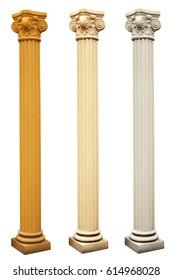 Pillar columns three colors