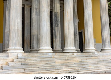 Pillar detail in Neoclassical building Zappeion in Athens, Greece