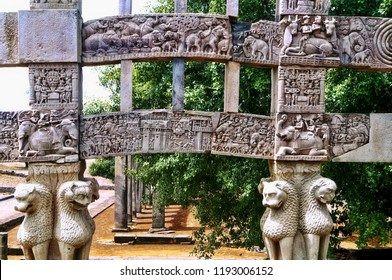 Pillar of Stupa at Sanchi, India