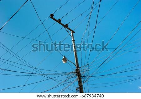 Stupendous Pillar Wires Street Lamp Stock Photo Edit Now 667934740 Shutterstock Wiring Cloud Funidienstapotheekhoekschewaardnl