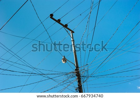 Remarkable Pillar Wires Street Lamp Stock Photo Edit Now 667934740 Shutterstock Wiring Digital Resources Instshebarightsorg