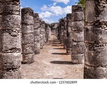 Pillars at Chichen Itza, Mexico