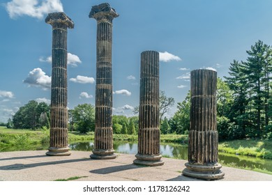The Pillars, or Columns, now in Pioneers Park, Lincoln, Nebraska, are remnants of the old Federal Treasury Building during its 1907 remodeling in Washington D.C.