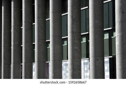 Pillars on a building facade