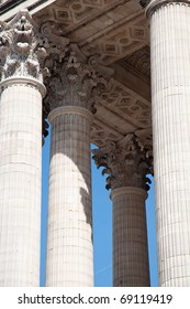 Pillars of the Pantheon in Paris.