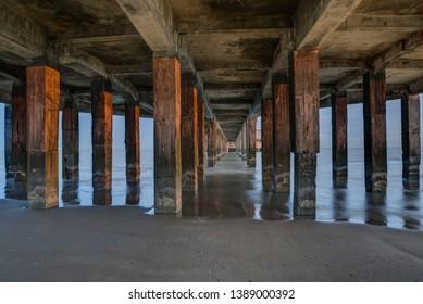 Pillars of the Pier, Jetty in Blankenberge, Belgium
