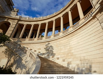 Pillars and stairs in the baroque 'Palais Longchamp' in Parc Longchamp in Marseille