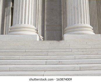 Pillars and Steps, supreme court, Washington DC, United States of America