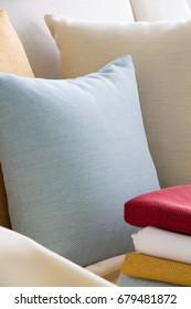pillow blue