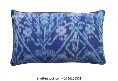 pillow cushion isolated on white . Details of modern boho tropical style eco design interior
