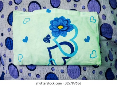 pillow with heart shape