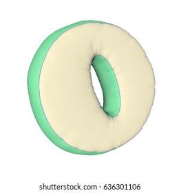 Pillow letter 3D rendering