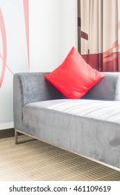 Pillow on sofa decoration interior of room