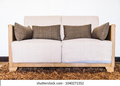 Pillow on sofa decoration of living area