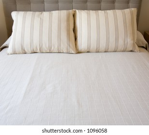 Pillows in bed