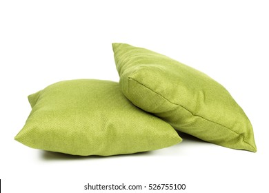 pillows on white background