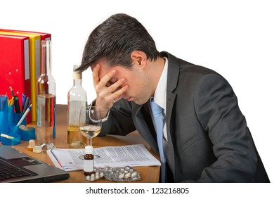 Pills and alcohol abuse in business