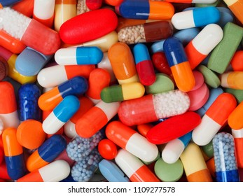 Pills and capsules, can be used as a background