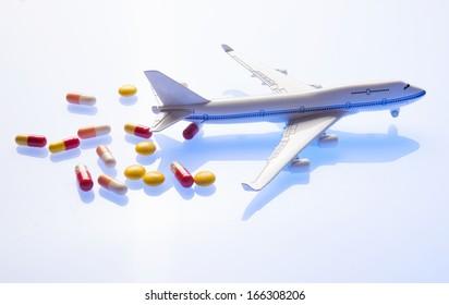 pills closeup, Transportation Travel