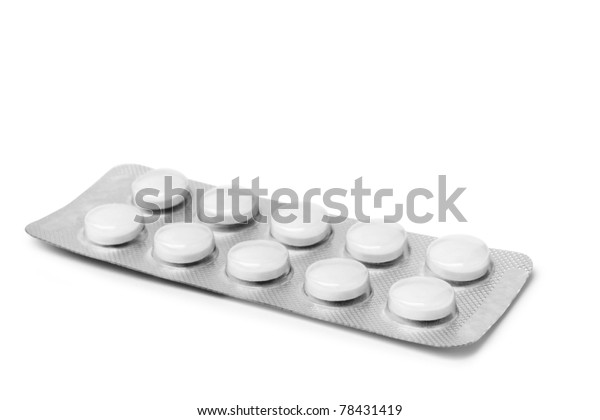 pills isolated on the white background