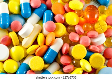 A lot of pills and medicines