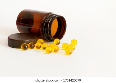 pills and vitamins on a white background